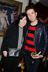 NICK GRIMSHAW and SHARLEEN SPITERI at a private view of 'Psycho Nacirema' at Pace Gallery, 6-10 Lexington Street followed by a party at The Playboy Club, Old Park Lane, London on 5th June 2013.