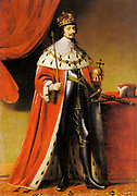 Frederick V (1596-1632) Elector Palatine from 1632, King of Bohemia 1619-1620. Protestant German prince: Accepted crown after Bohemian anti-Catholic revolt. Posthumous portrait by Gerrit  von Honthorst 1634. Regal Orb Sceptre