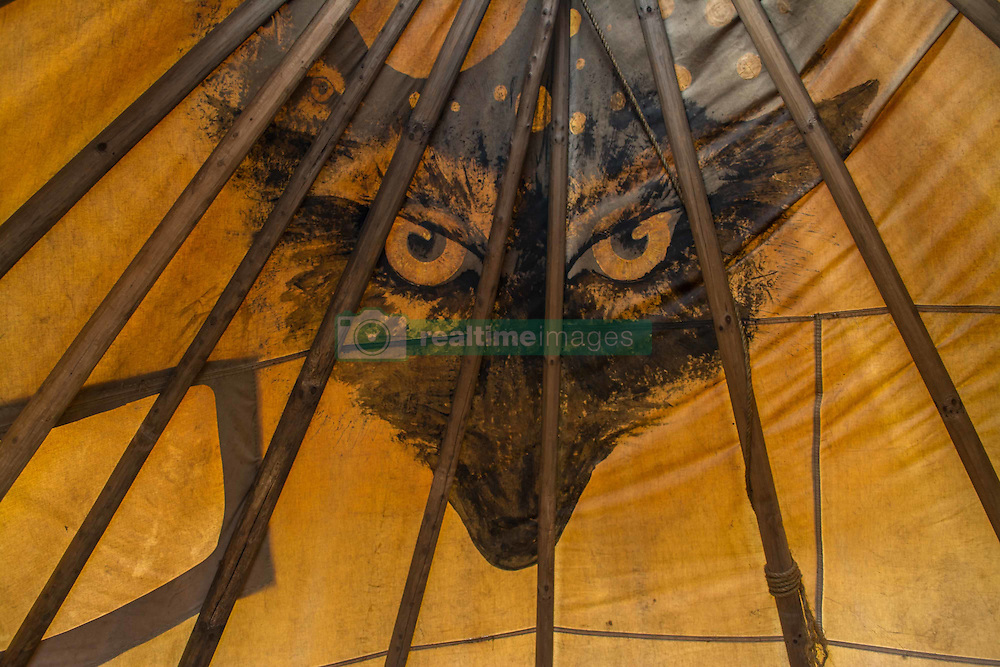 December 3, 2016 - The inside of a teppe at Oceti Sakowin Camp at Standing Rock, ND (Credit Image: © Dimitrios Manis via ZUMA Wire)