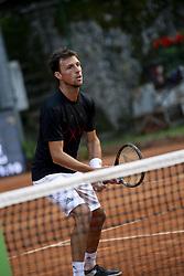 June 19, 2018 - L'Aquila, Italy - Andrea Arnaboldi during match between Facundo Bagnis (ARG)/Ariel Behar (URU) and Andrea Arnaboldi/Daniele Bracciali (ITA) during day 4 at the Internazionali di Tennis Citt dell'Aquila (ATP Challenger L'Aquila) in L'Aquila, Italy, on June 19, 2018. (Credit Image: © Manuel Romano/NurPhoto via ZUMA Press)