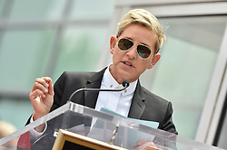 NSYNC honored with star on the Hollywood Walk of Fame. Hollywood, California. Pictured: Ellen DeGeneres. EVENT April 30, 2018. 30 Apr 2018 Pictured: Ellen DeGeneres. Photo credit: AXELLE/BAUER-GRIFFIN/MEGA TheMegaAgency.com +1 888 505 6342