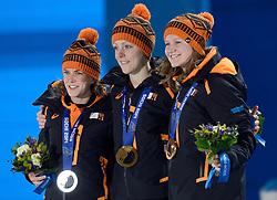 17-02-2014 ALGEMEEN: OLYMPIC GAMES HULDIGING: SOTSJI<br /> Huldiging van de 1500 meter op Medal Plaza / Huldiging Ireen Wust, Jorien ter Mors en Lotte van Beek<br /> ©2014-FotoHoogendoorn.nl