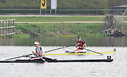 Hazewinkel, BELGIUM,  Women's Single Sculls, A Final, Winner Katherine GRAINGER and second placed, Anna WATKINS [BEBINGTON] i after the final at the Monday Morning Final.  British Rowing Senior Trails, Bloso Rowing Centre. Monday  12/04/2010.  [Mandatory Credit. Peter Spurrier/Intersport Images]