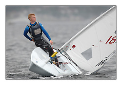 The second day of racing at the World Laser Radial Youth Championships, Largs, Scotland..Matthew Odowd IRL 181999..317 Youth Sailors from 42 different nations compete in the World and European Laser Radial Youth Champiponship from the 17-25 July 2010...The Laser Radial World Championships take place every year. This is the first time they have been held in Scotland and are part of the initiaitve to bring key world class events to Britain in the lead up to the 2012 Olympic Games. ..The Laser is the world's most popular singlehanded sailing dinghy and is sailed and raced worldwide. ..Further media information from .laserworlds@gmail.com.event press officer mobile +44 7866 571932 and +44 1475 675129 .