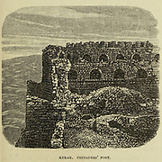 Crusaders' Fort, Kerak [Al-Karak], Jordan From the book ' Land of Moab : travels and discoveries on the east side of the Dead Sea and the Jordan ' by Tristram, H. B. (Henry Baker), 1822-1906 Published in London in 1873 by  J. Murray