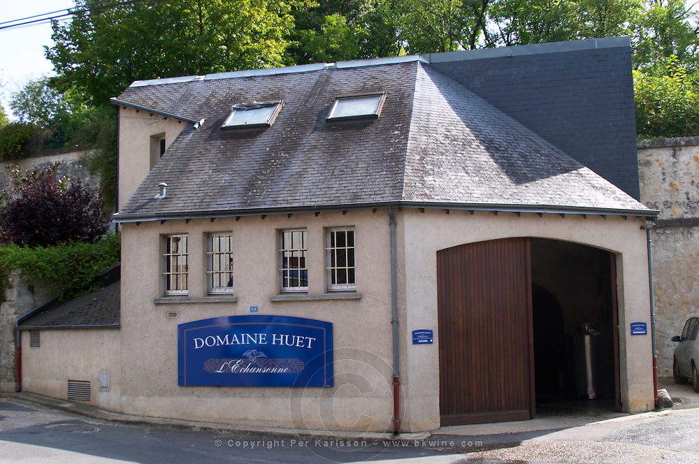 Winery building. Domaine Huet, Vouvray, Touraine, Loire, France