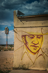 graffiti painted wall of a cowboy