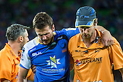 Alby Mathewson of the Western Force is injured during the Canterbury Crusaders v the Western Force Super Rugby Match. Nib Stadium, Perth, Western Australia, 8th April 2016. Copyright Image: Daniel Carson / www.photosport.nz