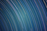 Long star trails in the Milky Way, Arizona