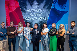 10-04-2019 NED: Kick off of Icederby in Thialf 2019/2020, Almere<br /> The Ultimate Icederby between long track and short track speed skating comes to invade the Netherlands / Sjinkie<br /> Knegt, Elise Christie, Arianna Fontana, Suzanne Schulting, Do Joung Hyun, Jorien ter Mors, Jutta Leerdam, Michel Mulder en Bart Swings