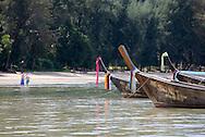 Longboats on Phang Nga Bay/ Andaman Sea, Thailand