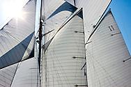 "29SEP09 Les Voiles De St Tropez 2009..The 1928 55m Herreshoff build ""Elena""."