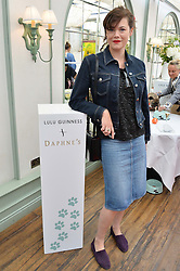 JASMINE GUINNESS at a party hosted by Lulu Guinness and Daphne's to launch Lulu's Designer Dog Bowl and to mark Daphne's allowing dogs through it's doors, held at Daphne's, Draycott Avenue, London on 28th June 2016.