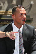 Alex Rodriguez at the Major League Baseball All-Stars and 49 Hall of Famers ride up Sixth Avenue in All Star-Game Red Carpet Parade Presented by Chevy on July 15, 2008