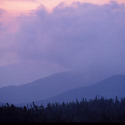 Appalachian Trail - Clouds and sunrise in Maine's Mahoosuc Mountains.  Mahoosuc Arm, ME