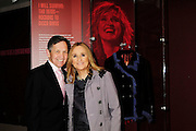 """Melissa Etheridge poses for a photo with Democratic Ohio Congressman Dennis Kuchinich, in front Etheridges' jacket she wore to the 2005 Grammy Award show. The jacket is part of the """"Women Who Rock"""" exhibition sponsored by the Rock and Roll Hall of Fame and the RIAA (Recording Industry Association of America) at NMWA in Wasington DC. Sunday Nov. 4th. Grammy award winner Melissa Etheridge is presented with The Excellence in the Performing Arts award from the National Museum of Women in the Arts (NMWA) in Washington DC. Sunday Nov. 4, 2012. Etheridge  also performed on the piano and then an acoustic set on guitar for an intimate audience of about 400 people. Photo ©Suzi Altman/For NMWA Grammy award winner Melissa Etheridge is presented with the National Museum of Women in the Arts' (NMWA) Award for Excellence in the Performing Arts in Washington DC. Sunday Nov. 4, 2012. Etheridge also performed on the piano and then an acoustic set on guitar for an intimate audience of about 300 people. Photo ©Suzi Altman/For NMWA<br /> <br /> Melissa Etheridge NMWA Award for Excellence in the Performing Arts"""