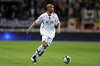FOOTBALL - FRENCH CHAMPIONSHIP 2010/2011 - L2 - LEMANS FC v SCO ANGERS - 1/04/2011 - PHOTO JEAN MARIE HERVIO / DPPI - LORIS ARNAUD (SCOA)