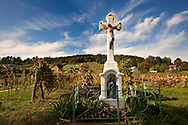 Cross of the blue Madonna - Korseg (Körseg) vineyards, Velem, Hungary .<br /> <br /> Visit our HUNGARY HISTORIC PLACES PHOTO COLLECTIONS for more photos to download or buy as wall art prints https://funkystock.photoshelter.com/gallery-collection/Pictures-Images-of-Hungary-Photos-of-Hungarian-Historic-Landmark-Sites/C0000Te8AnPgxjRg