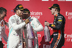 November 3, 2019, Austin, United States of America: Motorsports: FIA Formula One World Championship 2019, Grand Prix of United States, ..#44 Lewis Hamilton (GBR, Mercedes AMG Petronas Motorsport), #77 Valtteri Bottas (FIN, Mercedes AMG Petronas Motorsport), #33 Max Verstappen (NLD, Aston Martin Red Bull Racing) (Credit Image: © Hoch Zwei via ZUMA Wire)