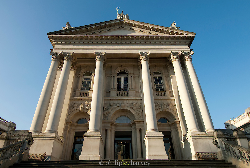 The Tate Britain art gallery on the north bank of the River Thames, London, UK