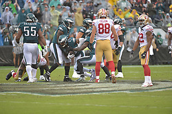 Oct 29, 2017; Philadelphia, PA, The Philadelphia Eagles against the San Francisco 49ers at Lincoln Financial Field. The Eagles won 34-24. (Photo by John Geliebter/Philadelphia Eagles)