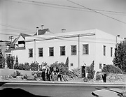 """African American Oregon Fraternal Association, commonly known as """"Frat Hall"""", at 1412 N. Williams. May 26, 1940.  This was demolished around March, 1958 to make room for the Memorial Coliseum.  The Rose Garden Arena was built on the site. James Wasson, photographer"""