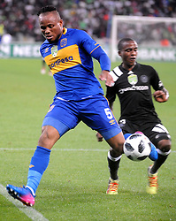 Cape Town 18-03-14  Cape Town city Dove Edmilson attacking as Orlando Pirates Thembinkosi lorch   trying to defend in the Nedbank Cup last 16  in  Cape Town Stadium Pictures Ayanda Ndamane African news agency/ANA