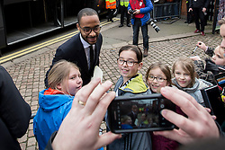 Dennis Odoi of Fulham arrives at craven cottage and poses for fans - Mandatory by-line: Jason Brown/JMP - 19/02/2017 - FOOTBALL - Craven Cottage - Fulham, England - Fulham v Tottenham Hotspur - Emirates FA Cup fifth round