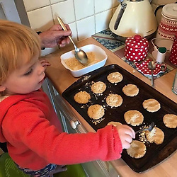 """Jamie Oliver releases a photo on Instagram with the following caption: """"#Repost via Facebook - Jonathan Dawson\n\u30fb\u30fb\u30fb\nApple Crumble Cookies on a Sunday. Great, quick and simple recipe. Grace loved them! #QuickAndEasyFood"""". Photo Credit: Instagram *** No USA Distribution *** For Editorial Use Only *** Not to be Published in Books or Photo Books ***  Please note: Fees charged by the agency are for the agency's services only, and do not, nor are they intended to, convey to the user any ownership of Copyright or License in the material. The agency does not claim any ownership including but not limited to Copyright or License in the attached material. By publishing this material you expressly agree to indemnify and to hold the agency and its directors, shareholders and employees harmless from any loss, claims, damages, demands, expenses (including legal fees), or any causes of action or allegation against the agency arising out of or connected in any way with publication of the material."""