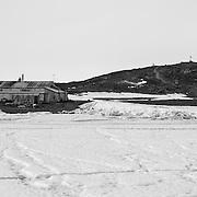 Cape Evans hut and Windvane hill on December 7, 2015.