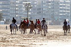 Beach walk in La Baule<br /> CSIO La Baule 2021<br /> © Hippo Foto - Dirk Caremans<br />  11/06/2021