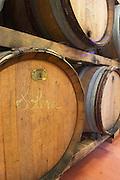 Solera. Domaine Madeloc, Banyuls sur Mer. Roussillon. Barrel cellar. France. Europe.