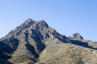 Mount Franklin State Park, with sotol cactus,  in El Paso is the largest urban park in Texas.