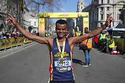 The race winner during the 2019 London Landmarks Half Marathon.