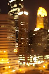 Minneapolis abstracted skyline at night