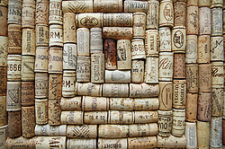 Pinboard made from recycled corks,
