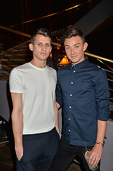 Left to right, dancer Nicol Edmonds and fashion designer Sam Dougal at the Fashion Targets Breast Cancer 20th Anniversary Party held at 100 Wardour Street, Soho, London on 12th April 2016.