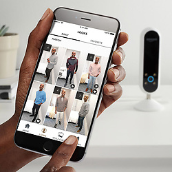 "April 28, 2017 - inconnu - On-line retailer Amazon has released a personal robot stylist that helps customers decide what to wear.The Echo Look is the latest in a line of household gadgets from the company designed to make home life easier.The Echo Look is a camera that takes photos of outfits before rating them and giving a second opinion.It is being marketed as a fashion tool, with voice-activation allowing users to take full-length photos and short videos of their outfit choices.It follows on from Amazon's smart Alexa voice activated assistant, Alexa.The new device uses a new service named Style Check to offer feedback on the chosen look.An Amazon spokesman explained:"" ''Style Check keeps your look on point using advanced machine learning algorithms and advice from fashion specialists.""Submit two photos for a second opinion on which outfit looks best on you based on fit, colour, styling and current trends.''''Over time, these decisions get smarter through your feedback and input from our team of experienced fashion specialists.''As users build up their lookbooks with pictures and videos, the device is able to recommend new brands and styles inspired by recurring outfits.For peace of mind, a button on the side turns off both the camera and the always-listening microphone. As well as offering style advice, the Echo Look performs the same duties as Amazon's other Echo devices – first launched in 2014 – and can devise travel routes, read headlines or play music.Currently, the Echo Look is only able to purchase by invitation for $200 USD in the US / €184 Euros / £155 GBP It is not yet known if the company will roll out the device to the general public at a later date. # AMAZON LANCE 'ECHO LOOK' POUR AIDER A MIEUX S'HABILLER (Credit Image: © Visual via ZUMA Press)"