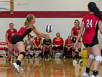 Varsity Volleyball Laconia versus Gilford.  Karen Bobotas/ for the Laconia Daily Sun