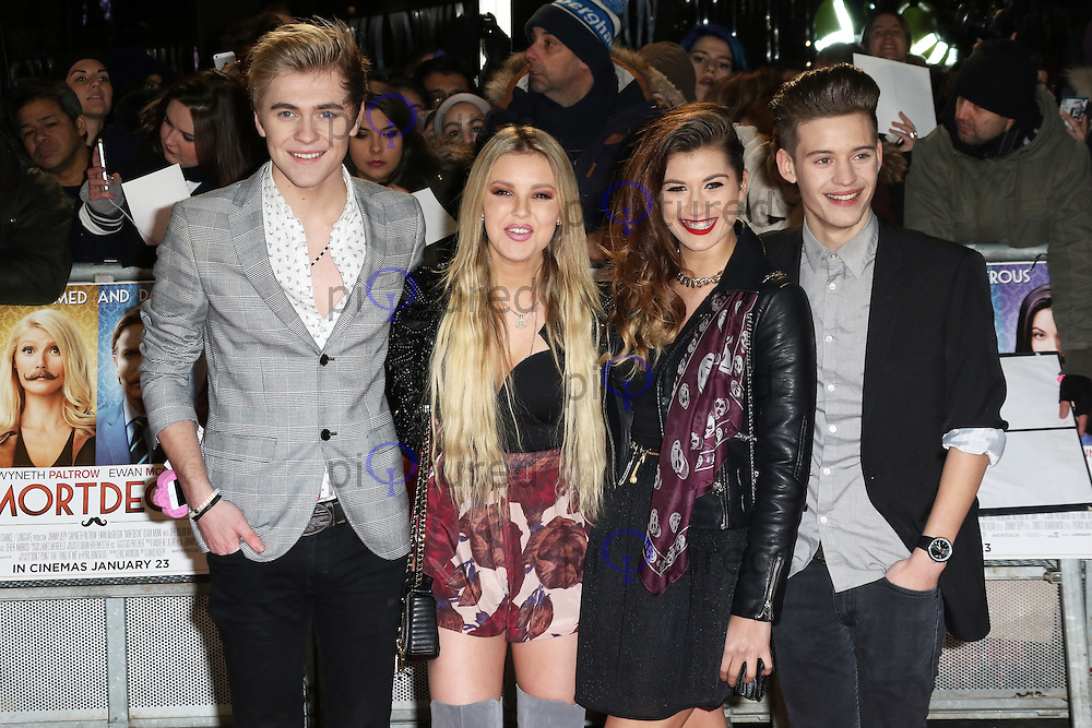 Only The Young, Mikey Bromley, Betsy-Blue English, Parisa Tarjomani, Charlie George, Mortdecai - UK film premiere, Leicester Square, London UK, 19 January 2015, Photo by Richard Goldschmidt