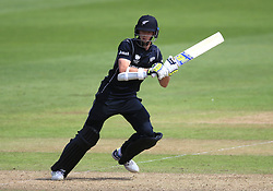 New Zealand's Tim Mitchell Santner during the ICC Champions Trophy, Group A match at Sophia Gardens, Cardiff.