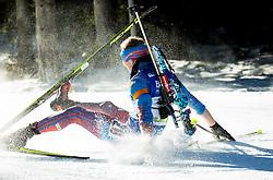 Alexey Volkov (RUS)  during Men 15 km Mass Start at day 4 of IBU Biathlon World Cup 2015/16 Pokljuka, on December 20, 2015 in Rudno polje, Pokljuka, Slovenia. Photo by Vid Ponikvar / Sportida