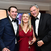 Guest, Ellora Harper and David Grose attend Rochay High Society Soiree with Jovoy at Westbury Mayfair grafton suite on 21 November 2019, London, UK.