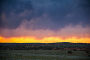 Sunset on Highway 191 just north of Monticello, Utah.