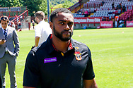 Bradford Bulls winger Iliness Macani (5) during the Kingstone Press Championship match between Batley Bulldogs and Bradford Bulls at the Fox's Biscuits Stadium, Batley, United Kingdom on 16 July 2017. Photo by Simon Davies.