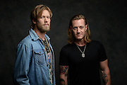 Brian Kelley and Tyler Hubbard of Florida Georgia Line photographed at the iHeartCountry Music Festival at the Frank Erwin Center in Austin, Texas on April 30, 2016.