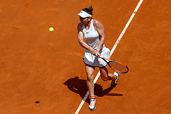 May 20, 2018 - Rome, Italy - Simona Halep of Romania returns a forehand in her Womens Final match against Elina Svitolina of Ukraine during day 8 of the Internazionali BNL d'Italia 2018 tennis at Foro Italico on May 20, 2018 in Rome, Italy. (Credit Image: © Matteo Ciambelli/NurPhoto via ZUMA Press)