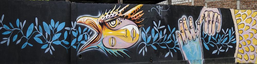 Stree Mural of a Corn God, Vilcabamba, Ecuador