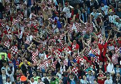 June 21, 2018 - Nizhny Novgorod, Russia - Group D Argentina v Croazia - FIFA World Cup Russia 2018.Croatia supporters celebration at Nizhny Novgorod Stadium, Russia on June 21, 2018. (Credit Image: © Matteo Ciambelli/NurPhoto via ZUMA Press)