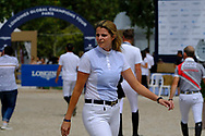 Athina Onassis de Miranda riding on AD Camille Z during the Longines Paris Eiffel Jumping 2018, on July 5th to 7th, 2018 at the Champ de Mars in Paris, France - Photo Christophe Bricot / ProSportsImages / DPPI
